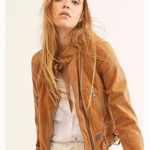 Free People Jackets & Coats - Free People Fenix Suede Moto